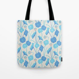 LOTUS POND Pattern Tote Bag