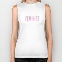 feminist Biker Tanks featuring Feminist  by Daniel McLaren