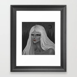 The Moon and Her Framed Art Print