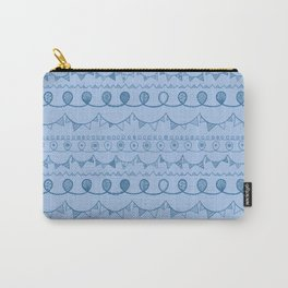 Blue Loops Carry-All Pouch