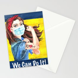 We Can Do It! inspirational nurse art Stationery Cards