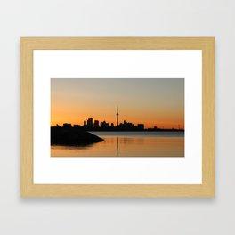 Toronto Sunrise Framed Art Print