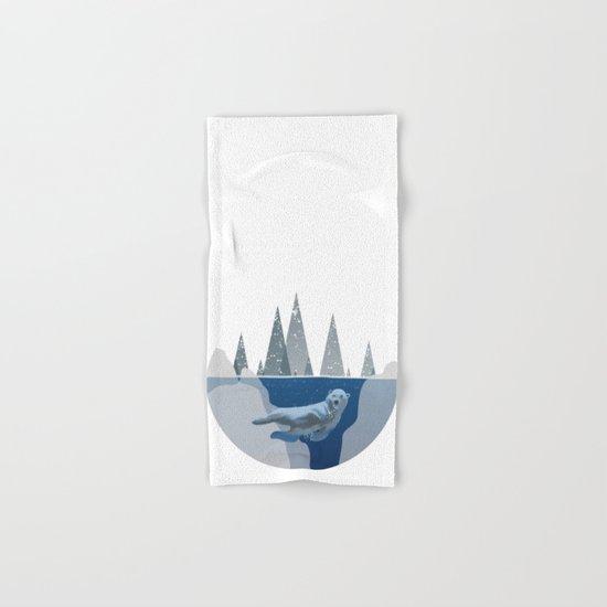 Polar Bear Underwater Dome Hand & Bath Towel