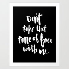 Tone of Face Art Print