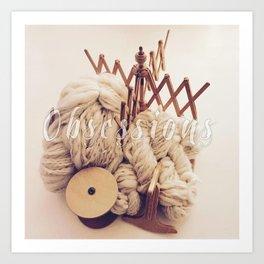 knitting obsessions Art Print