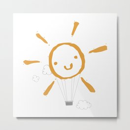 Sun balloon Metal Print