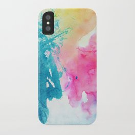 Watercolor Splashes iPhone Case