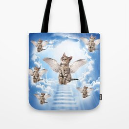 All Cats Go to Heaven Tote Bag
