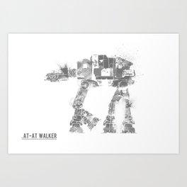 Star Wars Vehicle AT-AT Walker Art Print