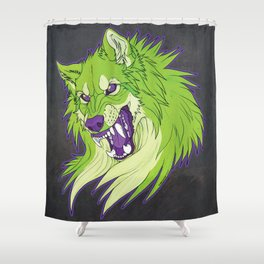 Ravewolf - Lime and Grape Shower Curtain