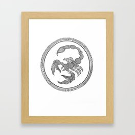 Zodiac Sign Scorpio Framed Art Print