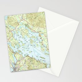 Lake Winnipesaukee Map (1986) Stationery Cards