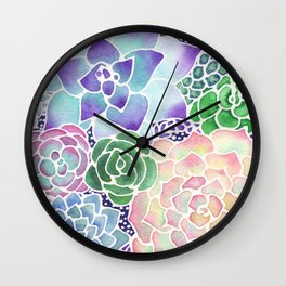 Masked Flora Collection Succulents Wall Clock