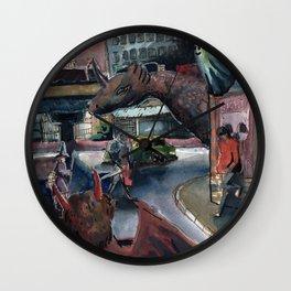 demon in the street Wall Clock