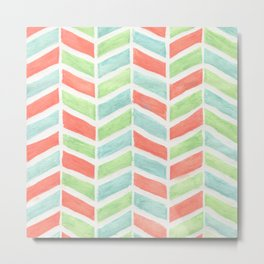 Pastel fishbone Metal Print