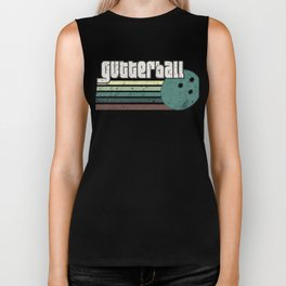 Gutterball Funny Graphic Bowling Strikes League Biker Tank