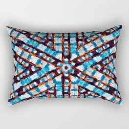 Blue Jeans Texture Rectangular Pillow