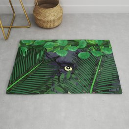 Panther in Jungle Rug