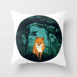 Fox Mount View Throw Pillow