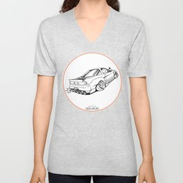 Crazy Car Art 0191 Unisex V-Neck
