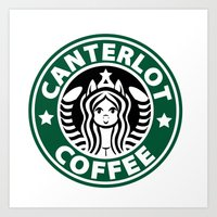 Canterlot Coffee Art Print