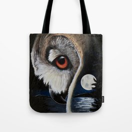 Eagle Owl - The Watcher - by LiliFlore Tote Bag