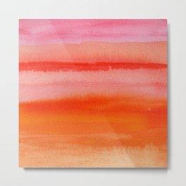 Watercolor Sunset Sky Metal Print