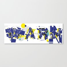 Warn Canvas Print