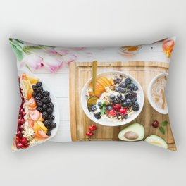 breakfast time Rectangular Pillow