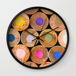 COLORED PENCILS 3 Wall Clock