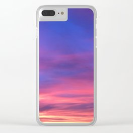 The Watercolor Sunset Clear iPhone Case