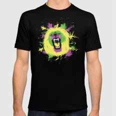 Lion Black MEDIUM Mens Fitted Tee