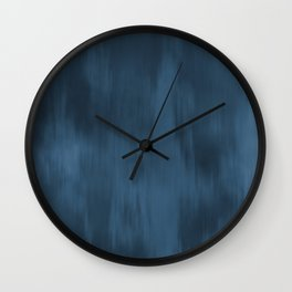 Blue Abstract Fusion Watercolor Blend Pairs To 2020 Color of the Year Chinese Porcelain PPG1160-6 Wall Clock
