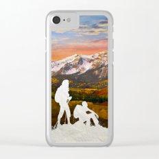 Autumn Hike Clear iPhone Case