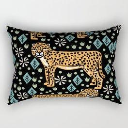 Cheetah safari art printmaking screen print giclee by andrea lauren Rectangular Pillow
