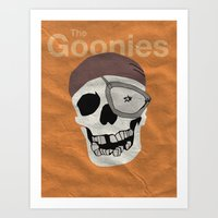 the goonies Art Prints featuring Goonies by B. Hopt