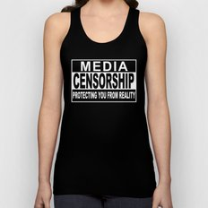 Media Censorship Protecting You From Reality Unisex Tank Top