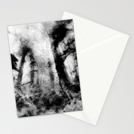 abstract misty forest painting hvhdbw Stationery Cards