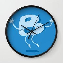 B Happy! Wall Clock
