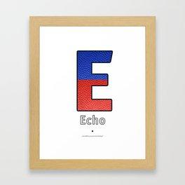 Echo - Navy Code Framed Art Print