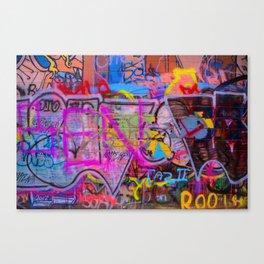 Bright Graffiti Canvas Print