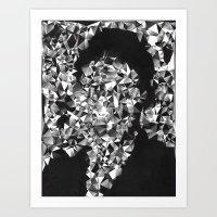 kafka Art Prints featuring Kafka by Alessandra M