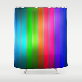 MultiColor Lines Shower Curtain