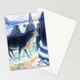 Gauguin Christmas Night Stationery Cards