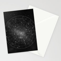 Constellation Star Map (B&W) Stationery Cards