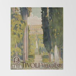 Tivoli Lazio Rome travel ad Throw Blanket