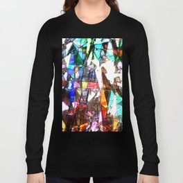 Light Streaming Through Stained Glass Long Sleeve T-shirt