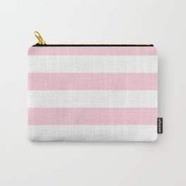 Light Soft Pastel Pink Cabana Tent Stripes Carry-All Pouch