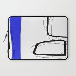 Blocks-Blue Streak  Laptop Sleeve