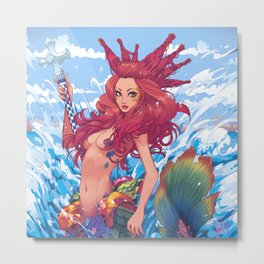 BARCELONA MERMAID Metal Print